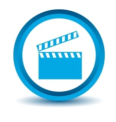 Blue film icon vector