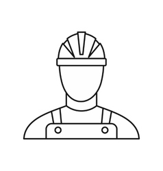 Builder icon outline style vector