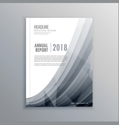 business annual report brochure design template vector image vector image