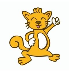 Dancing cat for kids t-shirt design vector