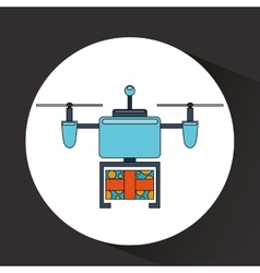 drone technology design vector image vector image