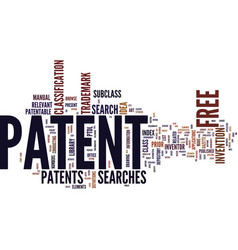 Free patent text background word cloud concept vector
