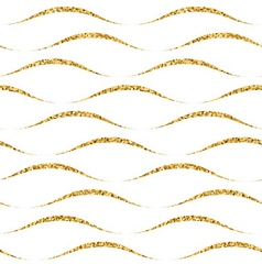 Gold wave seamless pattern white 4 vector image vector image