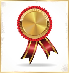Golden label with ribbons vector image