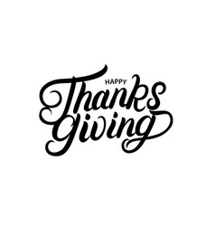 happy thanksgiving hand written lettering vector image vector image