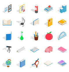 higher educational institution icons set vector image vector image