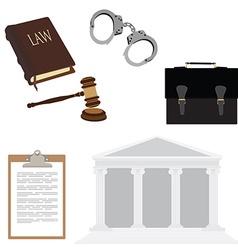 Law symbols vector