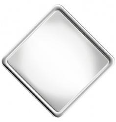 metallic rectangle vector image vector image