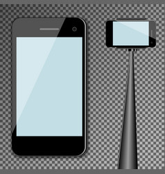 Mockup template black modern realistic smartphone vector