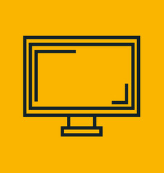 Monitor screen computer yellow social network vector