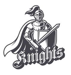 Monochrome knight sport logo vector