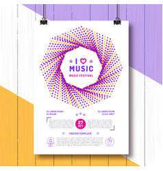 Music festival party poster template a4 size arts vector