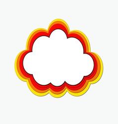 Rainbow web cloud vector