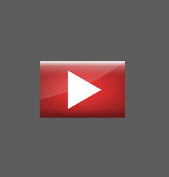 red play button vector image vector image