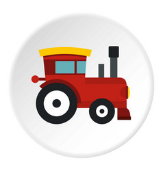 Red toy train icon circle vector