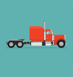 semi truck flat styled vector image vector image