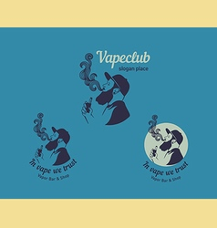 Set logos for the club shop or electronic cig vector image vector image