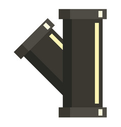 Sewerage pipe icon flat style vector