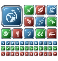 Space buttons vector image