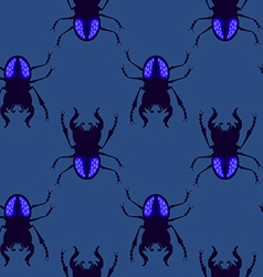 Stag beetle seamless pattern vector