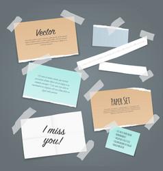 Sticky tape paper set vector