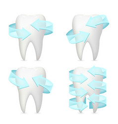 Tooth arrow protection realistic 3d poster vector