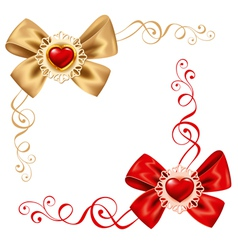 valentines day set cute rosette vector image vector image