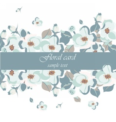 Vintage beautiful floral card vector