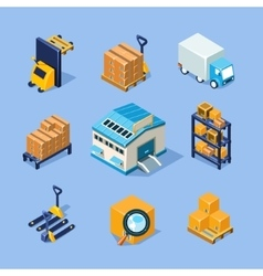 Warehouse Equipment vector image