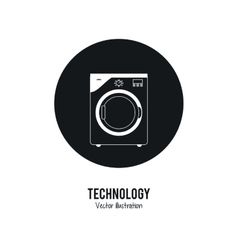 Washer machine icon internet of things design vector
