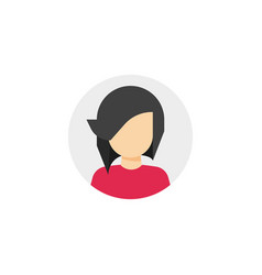woman face in circle icon vector image