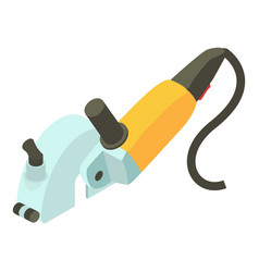 Yellow electric sander icon isometric 3d style vector