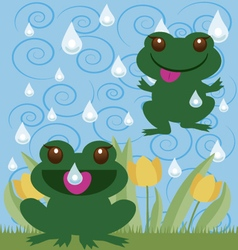 Jumping frogs vector