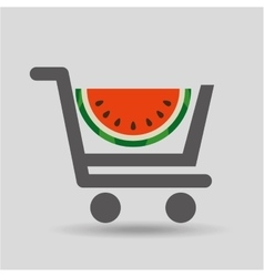 Carry buying fruit watermelon icon graphic vector
