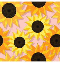 Sunflower pattern design vector