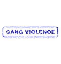 Gang violence rubber stamp vector