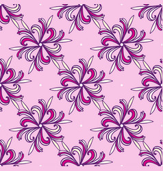 Seamless fashion floral pattern pink and purple vector
