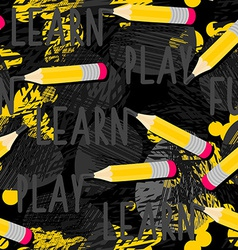 Back to school pencil pattern vector