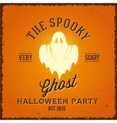 The spooky glowing ghost abstract vintage vector