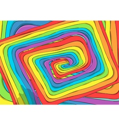 Route of rainbow background drawing by hand vector