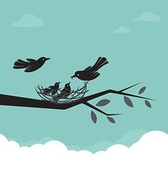 Birds Family vector image