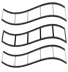 Photo film strip warp vector