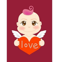 Angel love vector