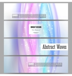 Set of modern banners abstract wave vector