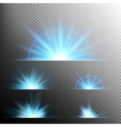 Light effect stars bursts eps 10 vector
