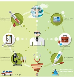 Health and medical infographic vector