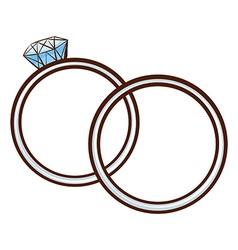 A simple sketch of a wedding bond vector image