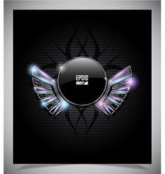 Abstraction dark background with wings vector image vector image