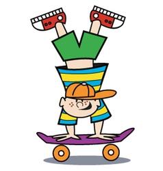Boy on a skateboard vector