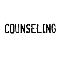 Counseling typographic stamp vector